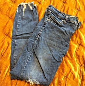 Free People Shark Bite Skinny Jeans